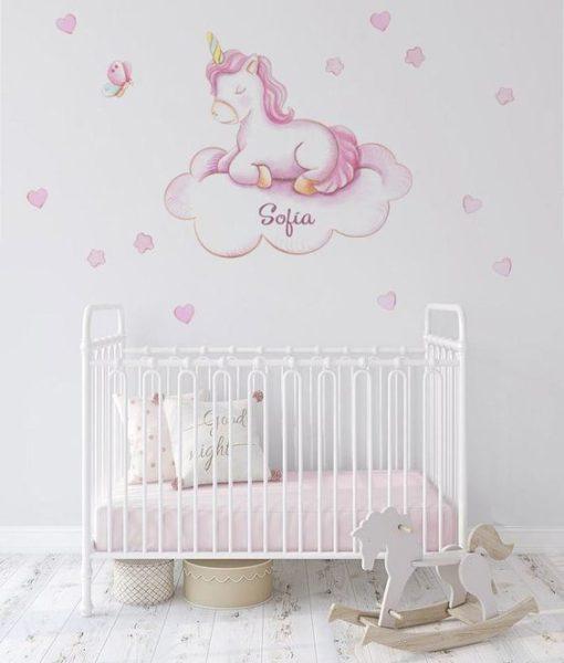 vinilo deorativo para bebes de unicornios