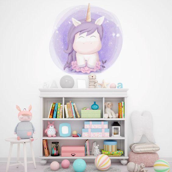 vinilo infantil de unicornio