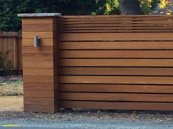 Cerca de madera para frente de casa