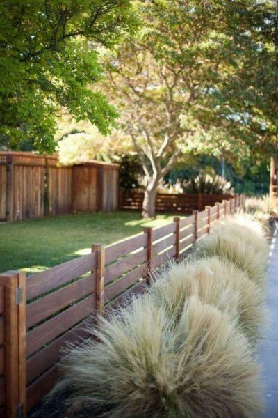 Cercas de madera bajas para jardin