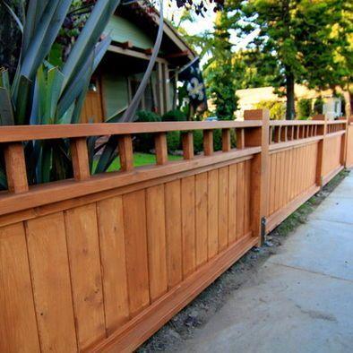Fotos de cercas de madera baja para frente de casas