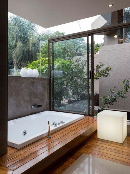 baño estilo zen oriental