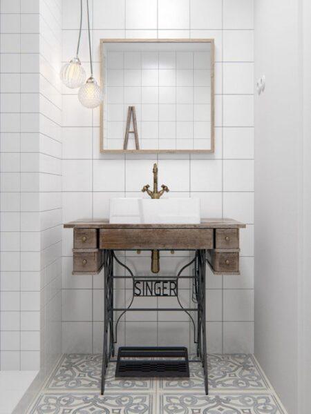 baño moderno estilo vintage