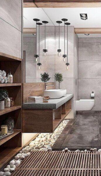 baño moderno zen
