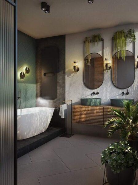 baños con plantas