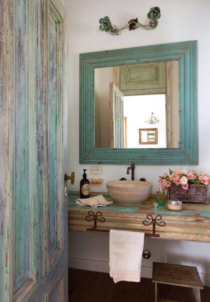 baños vintage moderno