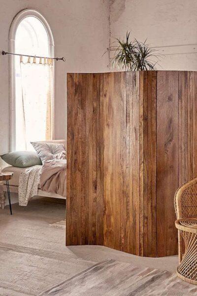 biombo rustico de madera
