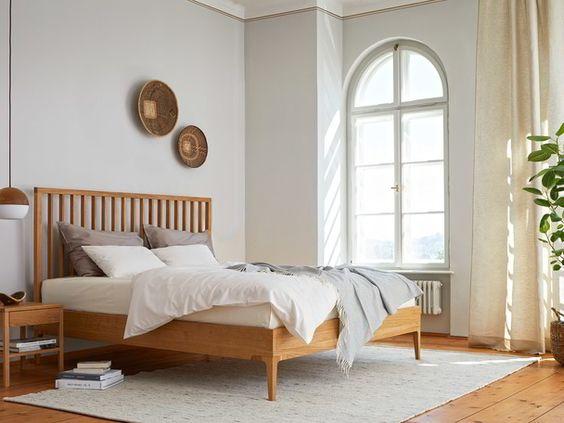 cama de madera vintage moderna