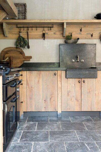 cocina campestre moderna