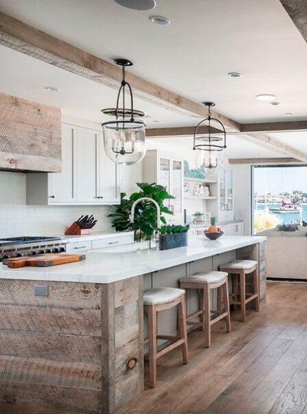 cocina campestre rustica moderna