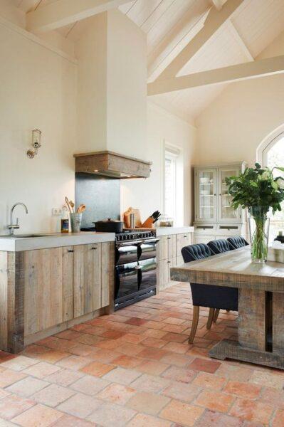 cocina rustica de campo moderna
