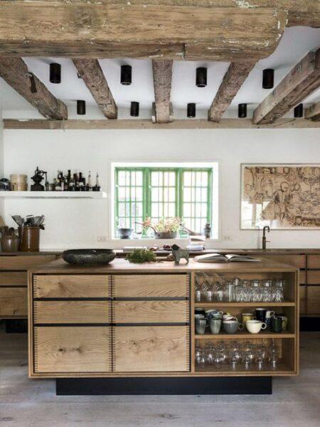 cocina rustica moderna
