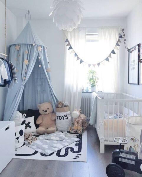 cuarto moderno para bebe varon