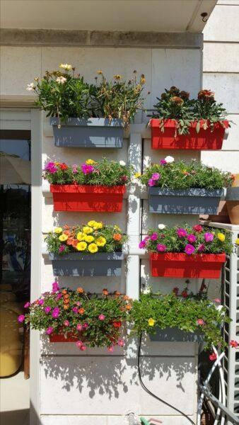 decoracion de balcones con macetas