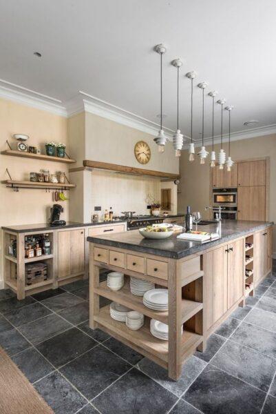 diseño de cocina rustica moderna