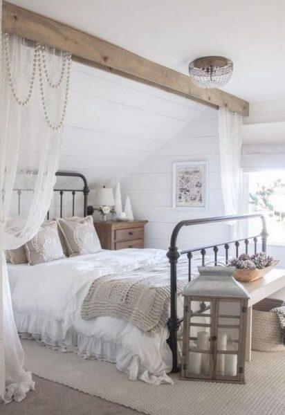 dormitorio campestre vintage