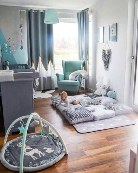 dormitorio moderno para bebe varon