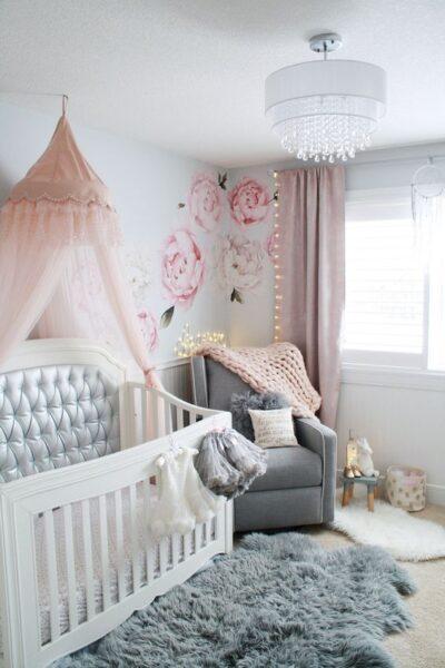 dormitorio para beba elegante y moderno