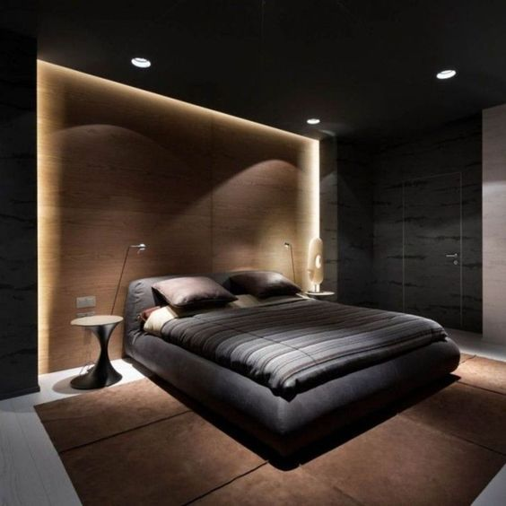 dormitorios con luz de acentos modernos