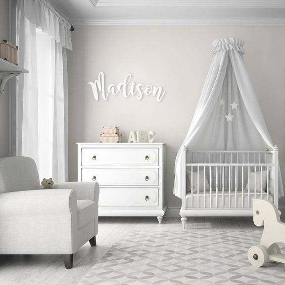 habitacion de bebe colores neutros