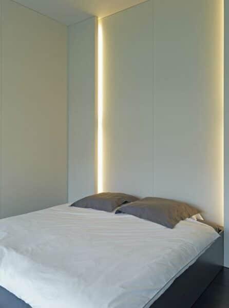 luz de acento para dormitorio moderno