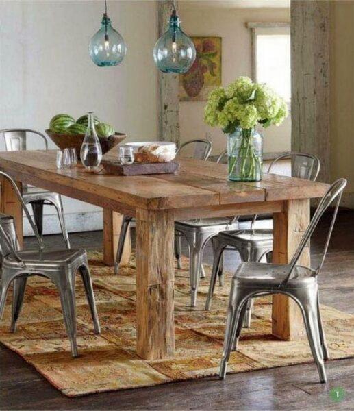 mesa campestre decoracion moderna