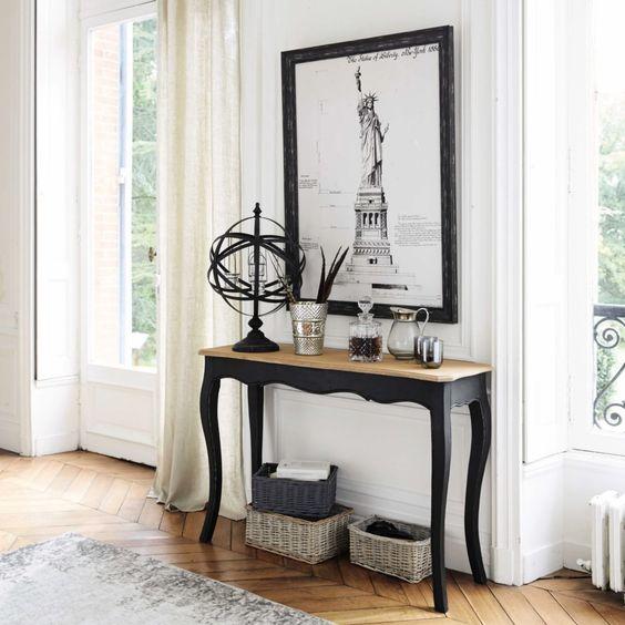 mesa recibidor antigua