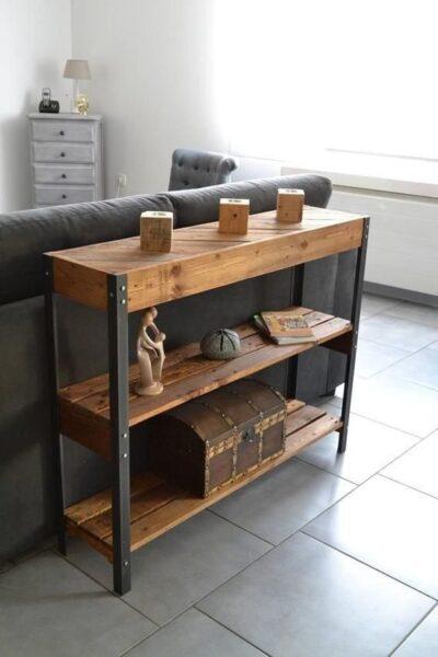 muebles para sala de estar con madera recuperada