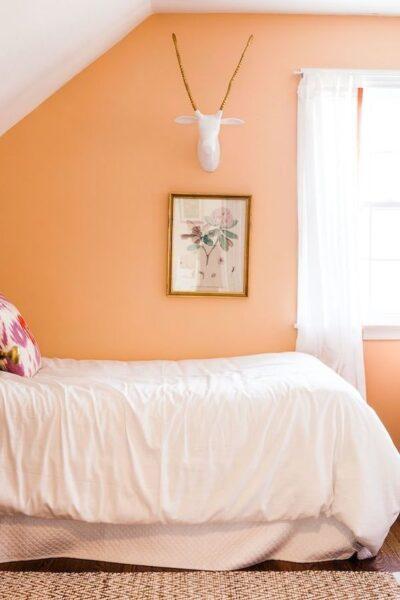 pared anaranjada pastel