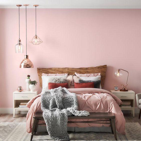 pared domritorio rosa claro