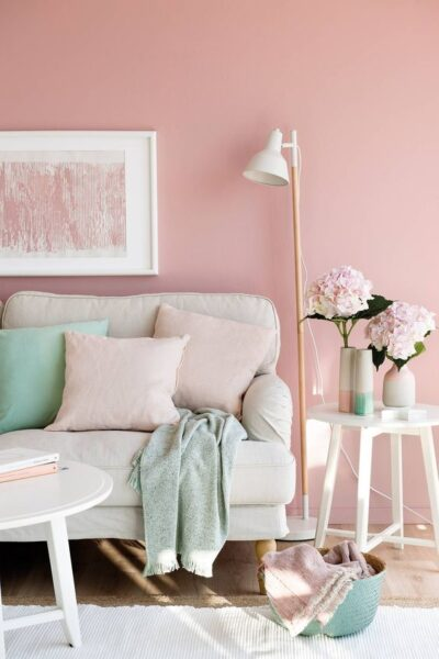 pared rosa claro