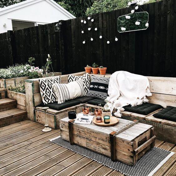 patio moderno rustico