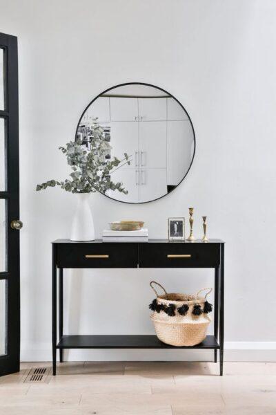 recibidor moderno minimalista negro