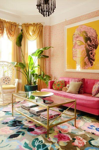 sala de estar de estilo Kitsch