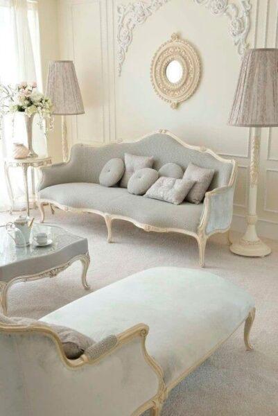 sala de estar estilo rococo