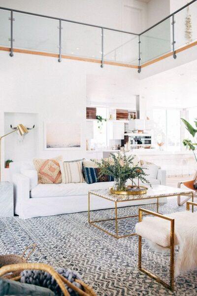 sala de estar minimalista estilo italiano moderno