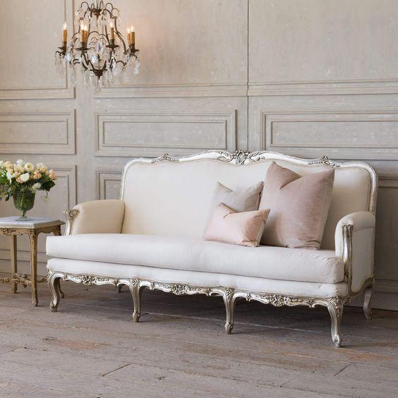sofa estilo rococo