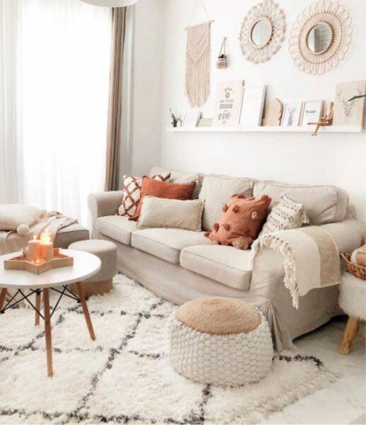 sofa para un estilo campestre moderno
