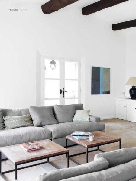 sofas gris estilo campestre minimalista