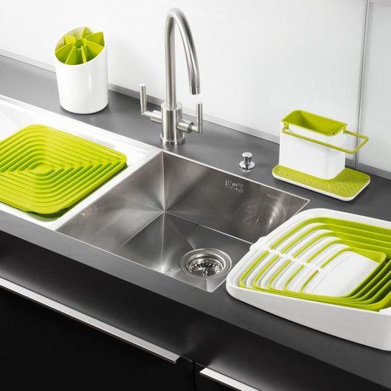 accesorios para cocina verde lima