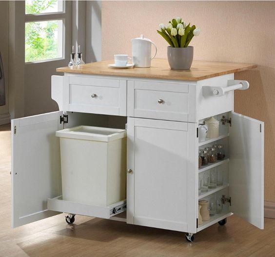 carrito utilitario para organizar cocina