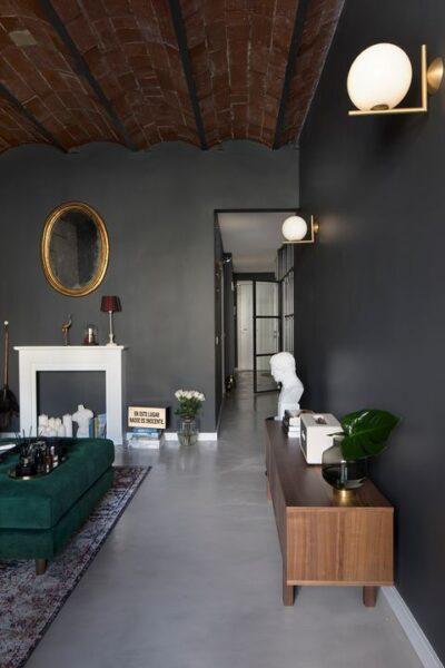 casa con paredes de microcemento modernas y elegantes