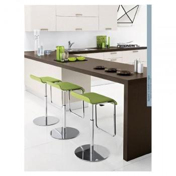 cocina con detalles verde lima
