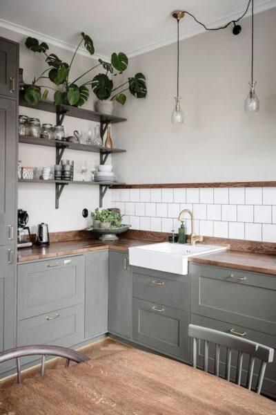 cocina verde grisaseo