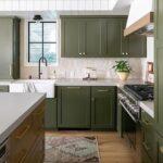 cocina verde musgo