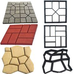 distitnas formas de moldes para cemento