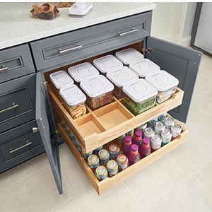 estantes de cocina estilo cajones