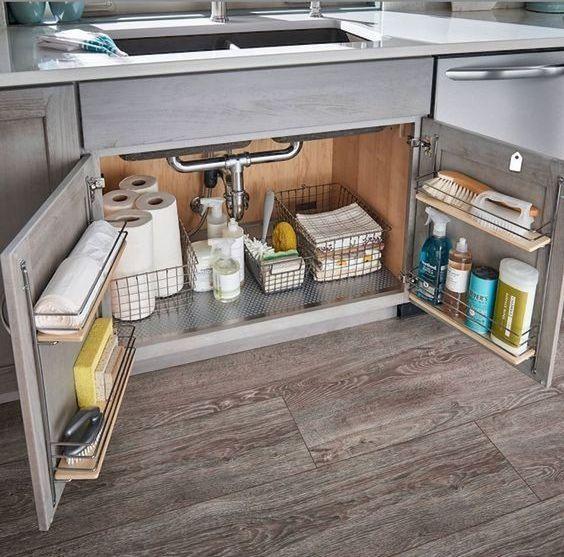 estantes interiores almacenamiento de cocina