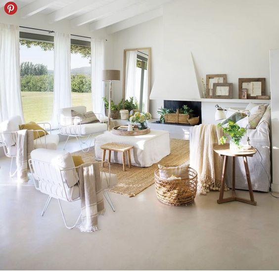 piso de cemento alisado beige