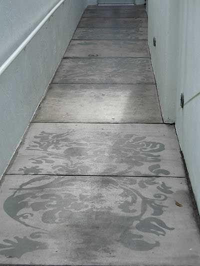piso de cemento alisado estampado
